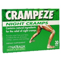 Natralia Health & Wellbeing, Crampeze, Night Cramps, 30 Capsules