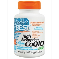 Doctor's Best High Absorption CoQ10 with BioPerine 600 mg 60 Veggie Capsules