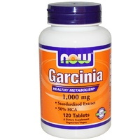 Now Foods, Garcinia, 1000 mg, 120 Tablets - Dietary Supplement