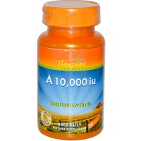 Thompson, A 10,000 IU, From Fish Liver Oil, 30 Softgels