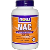 Now Foods NAC 1000 mg 120 Tablets - Dietary Supplement