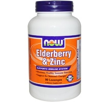 Now Foods, Elderberry & Zinc, 90 Lozenges ... VOLUME DISCOUNT
