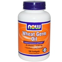 Now Foods, Wheat Germ Oil, 1130 mg, 100 Softgels