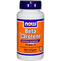 Now Foods, Beta Carotene, 25000 IU, 180 Softgels
