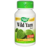 Nature's Way, Wild Yam Root, 425 mg, 100 Capsules