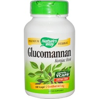 Nature's Way, Glucomannan, Konjac Root, 665 mg, 100 Vcaps