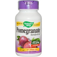 Nature's Way, Pomegranate, Standardised, 60 Vcaps