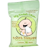 Tooth Tissues, My Dentist's Choice, Dental Wipes for Baby & Toddler Smiles, 30 Wipes