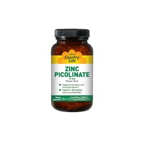 Country Life, Zinc Picolinate, Gluten Free, 25 mg, 100 Tablets