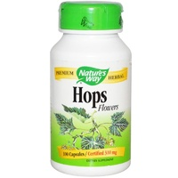Nature's Way Hops Flowers 310 mg 100 Capsules - Dietary Supplement