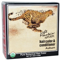 Light Mountain, Organic Hair Color & Conditioner, Auburn, 113 g, 4 Oz