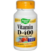 Nature's Way, Vitamin D-400, Natural Dry Form, 100 Capsules
