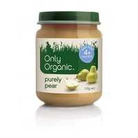 Only Organic, Baby Food, 4 Months +, Purely Pear, 12 Jars x 110 g