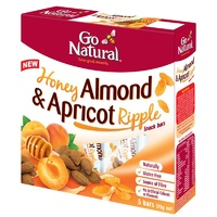 Go Natural, Multi Pack, 175 g, Honey, Almond & Apricot Ripple, 5 Packs X 8 Snack Bars