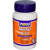 Now Foods Methyl B-12 10000 mcg 60 Lozenges - Dietary Supplement