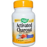 Nature's Way Charcoal Activated 100 Capsules - Dietary Supplement