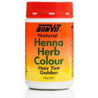 BonVit, Natural Henna Herb Colour, Hair Tint, Golden , 100 g