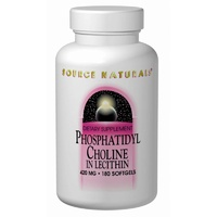 Source Naturals, Phosphatidyl Choline, in Lecithin, 420 mg, 180 Softgels