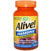 Nature's Way, Alive! Immune Gummies, Grape & Cherry Flavors, 90 Gummies