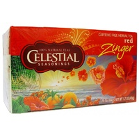 Celestial Seasonings Tea Red Zinger Caffeine Free 20 Tea Bags 49g  - Superfoods