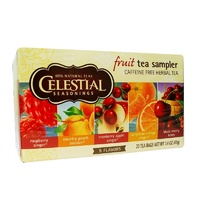Celestial Seasonings, Tea, Fruit Sampler, 5 Flavors, Caffeine Free, 20 Tea Bags, 42 g