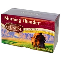 Celestial Seasonings, Black Tea, Morning Thunder, 20 Tea Bags, 40 g