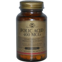 Solgar Folic Acid 400 mcg 250 Tablets - Dietary Supplement