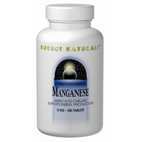 Source Naturals Manganese 15mg 250 Tablets - Dietary Supplement