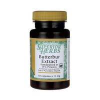 4 xSwanson Superior Herbs, Butterbur Extract, Standardised to 15% Petasins,75mg