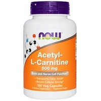 Now Foods, Acetyl-L Carnitine, 500 mg, 100 Veg Capsules