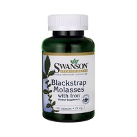 Swanson Premium Blackstrap Molasses with Iron 29mg 120 Capsules