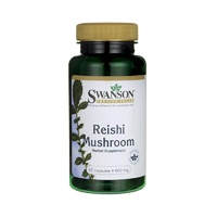 Swanson Premium Reishi Mushroom 600mg 60 Capsules - Herbal Supplement