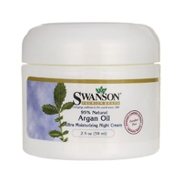 Swanson Premium Argan Oil Ultra Moisturizing Night Cream, 95% Natural