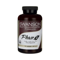 Swanson Best Weight-Control Formulas Phase 2 Carb Controller White Kidney Bean Extract 500mg 180 Capsules