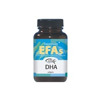 Swanson EFAs EcOmega DHA Fish Oil 100mg 60 Softgels