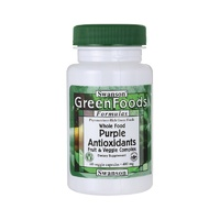Swanson GreenFoods Formulas Whole Food Purple Antioxidants Fruit & Veggie Complex 400mg 60 Veggie Capsules