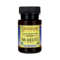 Swanson Ultra Folic Acid & B-12 30 Veg Caps