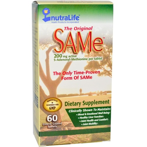 NutraLife The Original SAMe 200 mg 60 Enteric Coated Tablets