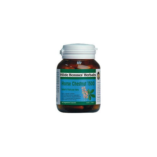 Hilde Hemmes Herbal's, Horse Chestnut, 1600mg, 60 VCaps