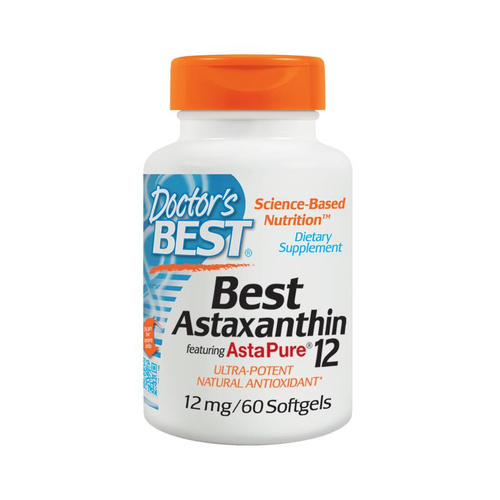 Doctor's Best, Best Astaxanthin, 12 mg, 60 Softgels
