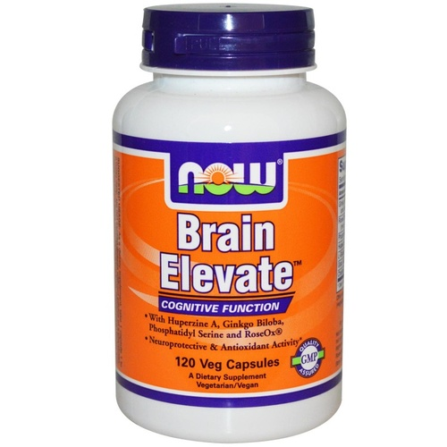 Now Foods, Brain Elevate, 120 Veggie Capsules ... VOLUME DISCOUNT