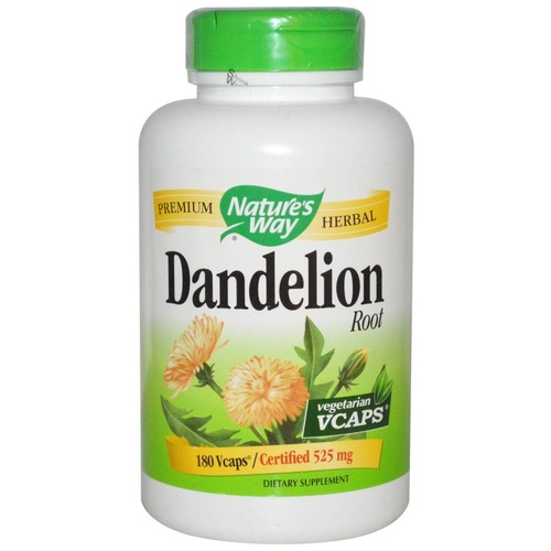 Nature's Way Dandelion Root 525 mg 180 Veggie Capsules