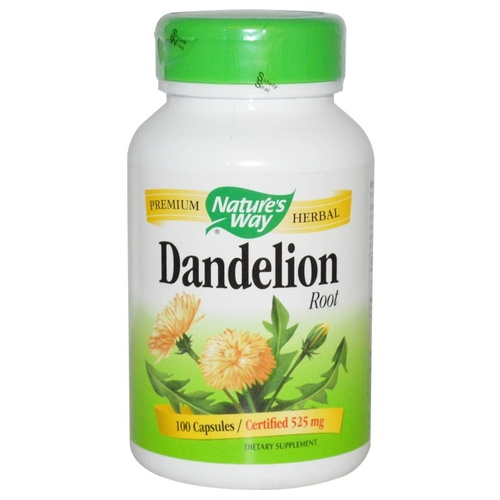 Nature's Way Dandelion Root 525 mg 100 Capsules  - Dietary Supplement