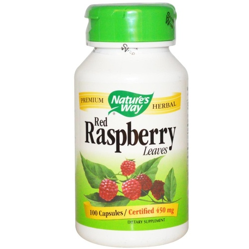 Nature's Way Red Raspberry Leaves 450 mg 100 Capsules