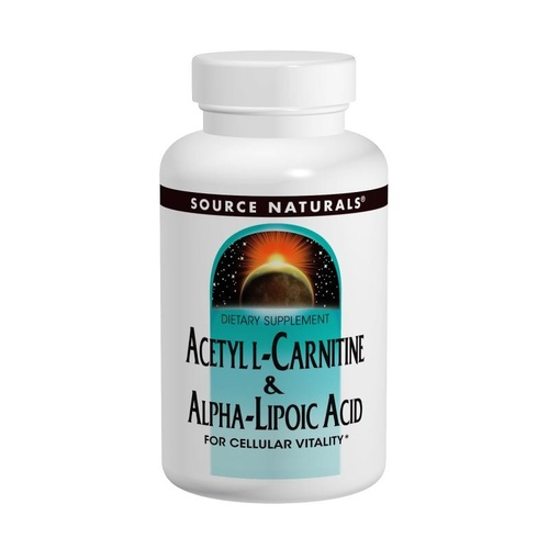 Source Naturals Acetyl L-Carnitine & Alpha Lipoic Acid 650 mg 60 Tablets