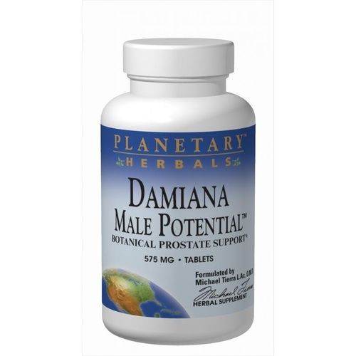 Planetary Herbals, Damiana Male Potential, 575 mg, 90 Tablets