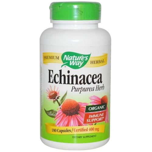 Nature's Way, Organic,  Echinacea Purpurea Herb, 400 mg, 180 Capsules