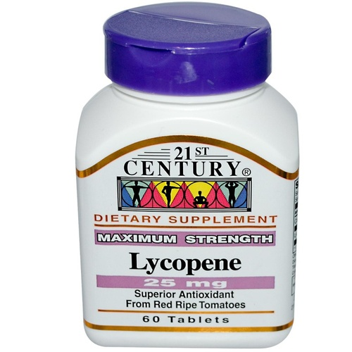 21st Century Health Care Lycopene 25mg 60 Tablets - Dietary Supplement