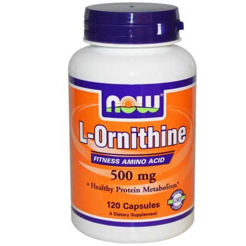 Now Foods, L-Ornithine, 500 mg, 120 Capsules
