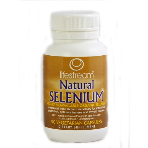 LifeStream Natural Selenium 100 mcg 90 Vcaps - Dietary Supplement